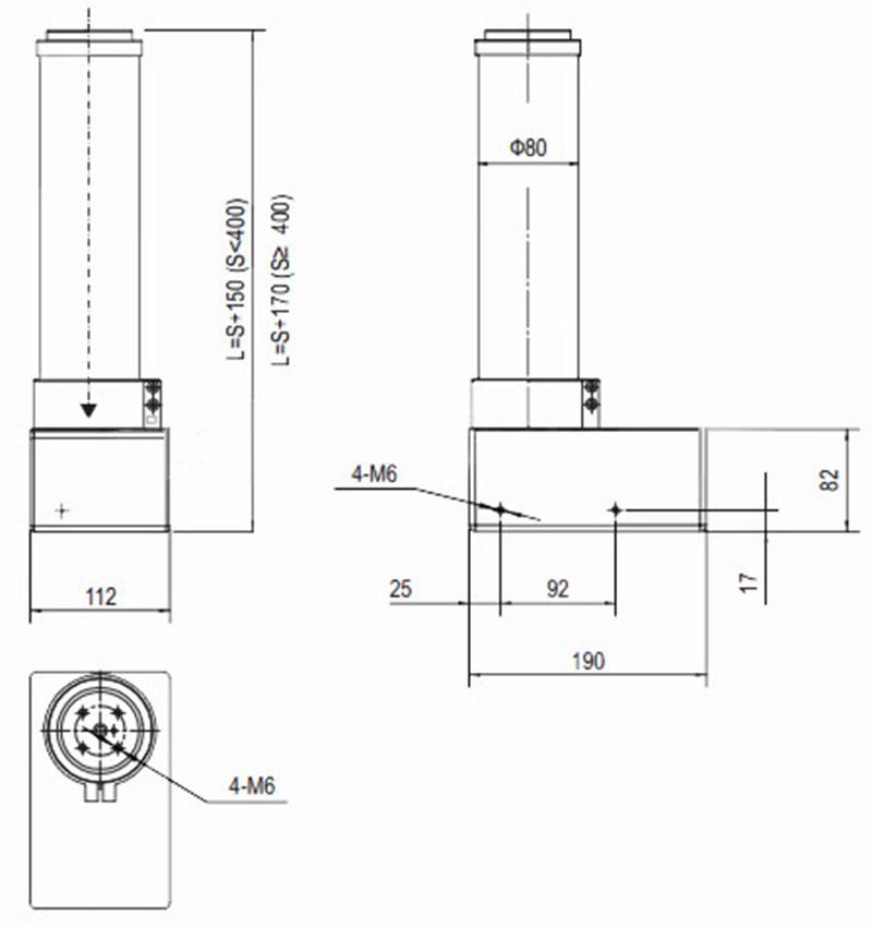 elektrisch h henverstellbare hubs ule columne teleskop tv beamer deckehalterung ebay. Black Bedroom Furniture Sets. Home Design Ideas