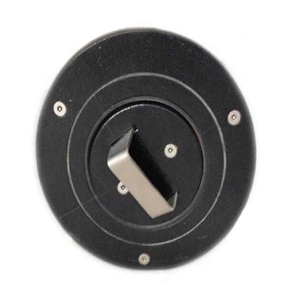 Versenkbarer Poller Ø 210 mm zum einbetonieren aus Stahl mit Alukopf